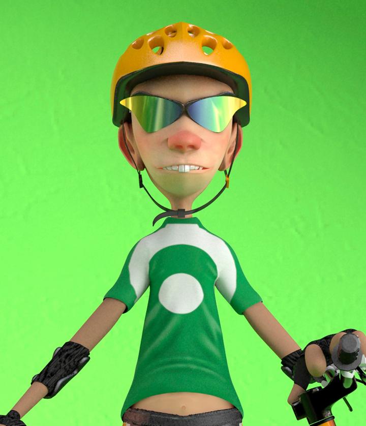 Biker cartoon